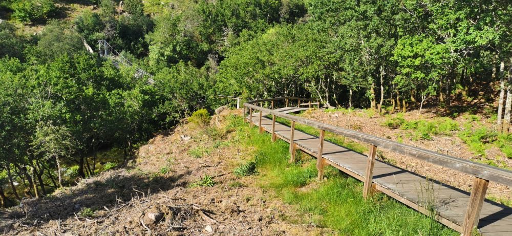 Ponte colgante e paseo