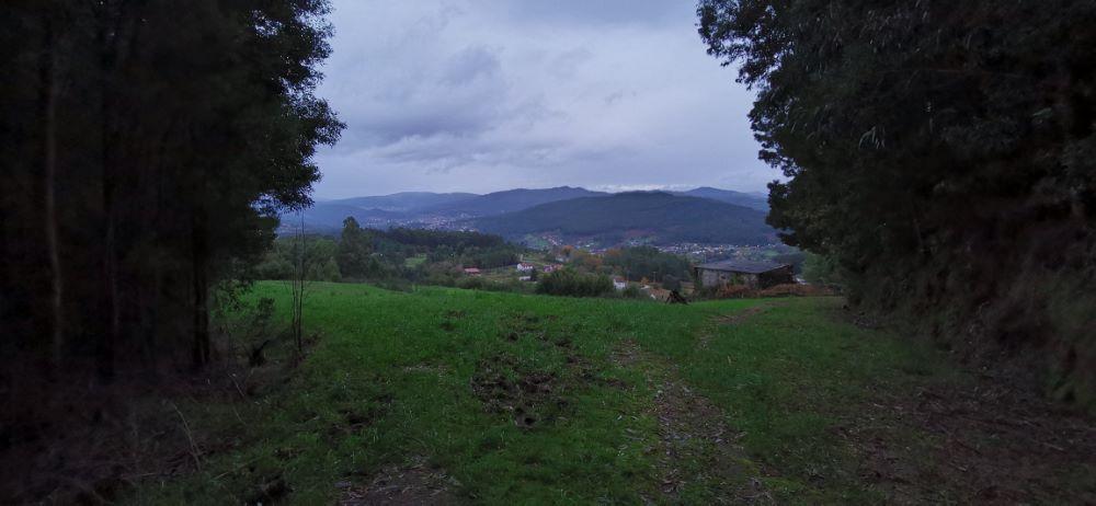 Vista dende o alto de A Corval